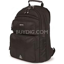 "ScanFast Eco-Friendly Sorona 17.3"" Black Laptop Backpack 2.0"