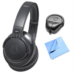 SonicFuel B.tooth Wireless Over-Ear Headphones w/ HardBody Headphone Case Bundle