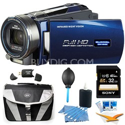 "HD Infrared 16 MP Night Vision Camcorder w/ 10x Opt Zoom 3"" LCD Plus 32GB Bundle"