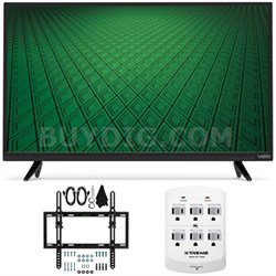 """D-Series D32hn-D0 32"""" Class Full-Array LED HD TV Flat/Tilt Wall Mount Bundle"""
