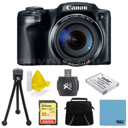 PowerShot SX510 HS 12.1 MP Digital Camera 32GB Bundle