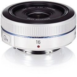 NX 16mm f/2.4 Ultra Wide Pancake Camera Lens - White