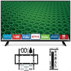 "D39h-D0 D-Series 39"" Class Full Array HD LED Smart TV Slim Wall Mount Kit Bundle"