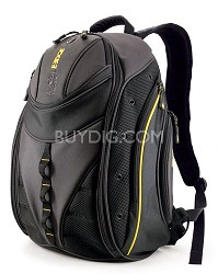 """Express Backpack - Notebook carrying backpack - 16"""" - black, yellow"""