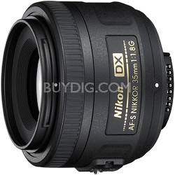 AF-S DX Nikkor 35mm F/1.8G Lens, With Nikon 5-Year USA Warranty
