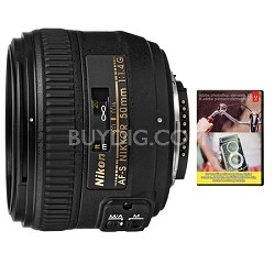 AF-S NIKKOR 50mm f1.4G Lens Nikon 5-Year USA Warranty & Adobe Elements Bundle