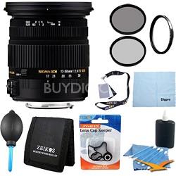 17-50mm f/2.8 EX DC OS HSM FLD Zoom Lens for Nikon DSLR Camera - Pro Lens Kit