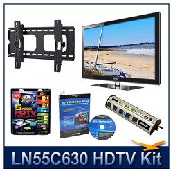 "LN55C630 - 55"" HDTV + Tilt Mount + Hook-Up + Power Protection + Calibration DVD"