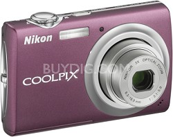 COOLPIX S220 Digital Camera (Plum)