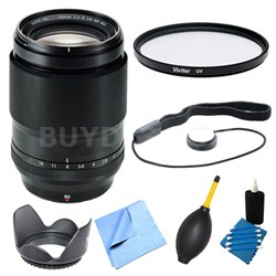 Fujinon XF90mm F2 R LM W Fast-Aperture X-Mount Lens and Filter Bundle