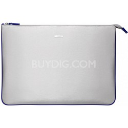 """VGP-CPC1/L 15.5"""" Notebook Carrying Pouch - Silver, Blue Interior"""