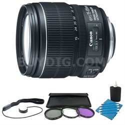 EF-S 15-85mm f/3.5-5.6 IS USM Standard Zoom Lens W/ 72mm Filter & Accy Kit