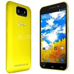 """Studio 5.5 3G 5.5"""" Touchsceen Android 4.2 JellyBean Cell Phone Unlocked - Yellow"""