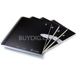 A5 Single Subject Notebooks, 4-Pack, Numbers 1 through 4