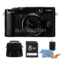 X20 12MP Digital Camera 8GB Black Kit