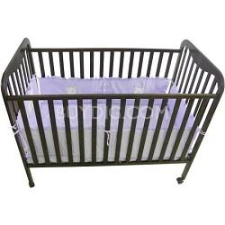Full Size 3 Level Solid Wood Baby Crib - Espresso