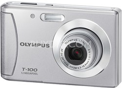 "T-100 12MP 2.4"" LCD Digital Camera (Silver)"