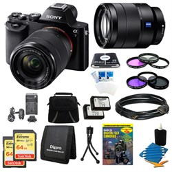 Alpha 7K a7K Digital Camera, 24-70mm Lens, 2 64GB SDHC Cards, 2 Batteries Bundle