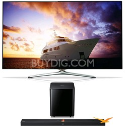 UN60F7500 60 inch 1080p 240hz 3D Smart Wifi TV + HW-F750 Soundbar Bundle