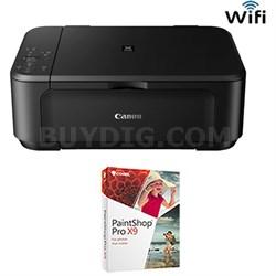 PIXMA MG3520 Wireless Inkjet All-In-One Printer + Corel Paintshop Pro X9