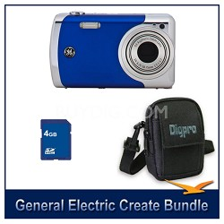 Create by Jason Wu 12MP Blue Camera Bundle w/ 4GB Card and Case