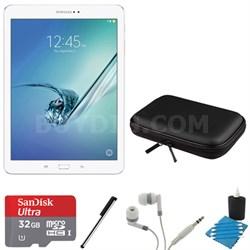 Galaxy Tab S2 9.7-inch Wi-Fi Tablet (White/32GB) 32GB MicroSD Card Bundle