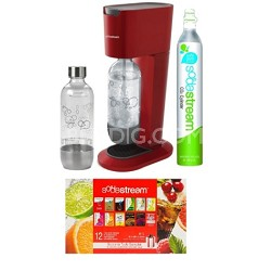 GENESIS Home Soda Maker Starter Kit - Red
