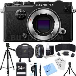 PEN-F 20MP Mirrorless Micro Four Thirds Digital Camera w/ 17mm Lens Bundle