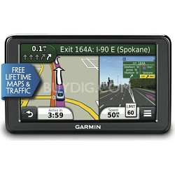 "nuvi 2555LMT 5.0"" GPS Nav. System with Lifetime Map and Traffic Updates OPEN BOX"