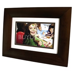"DF1010P1 10.1"" LCD Digital Photo Frame - Dark Espresso Wood"