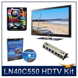 "LN40C550 - 40"" HDTV + High-performance Hook-up Kit + Power Protection + Calibrat"