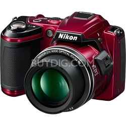 COOLPIX L120 14MP Red Digital Camera w/ 21x Optical Zoom