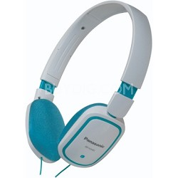 RP-HX40-A Slimz Light Weight On Ear Headphones (Blue/White)