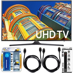 UN60KU6300 - 60-Inch 4K UHD HDR Smart LED TV Essential Accessory Bundle