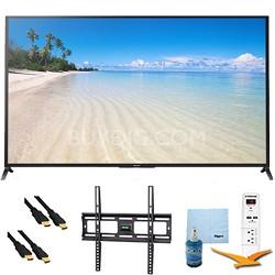 "70"" 1080p 120Hz Smart 3D LED HDTV Wifi Plus Mount & Hook-Up Bundle - KDL70W850B"