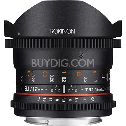 12mm T3.1 Ultra Wide Full Frame Cine DS Fisheye Lens for Sony E (NEX)