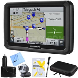 """dezl 770LMTHD 7"""" GPS Navigation with Lifetime Map/Traffic Updates Mount Bundle"""