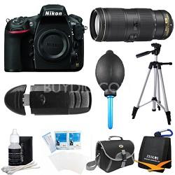 D810 36.3MP 1080p HD DSLR Camera Body with 70-200mm f/4G ED VR Pro Lens Bundle
