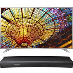 60-in UHD Smart TV w/ webOS 3.0 - 60UH6550 w/Samsung UBDK8500 UHD Blu Ray Player