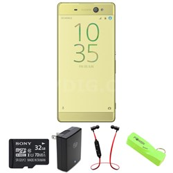 Xperia XA Ultra 16GB 6-inch Smartphone, Unlocked - Lime Gold w/ Headphone Bundle
