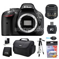 D5200 DX-Format Digital SLR Camera Body 40mm Lens Kit