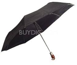 """Black 42"""" Automatic Open/Close Wood Handle Umbrella"""