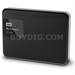 My Passport for MAC 1 TB Hard Drive, Black/Silver - OPEN BOX