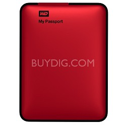 My Passport 2 TB USB 3.0/2.0 High Capacity Portable Hard Drive w/ Backup Red