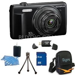 8 GB Kit VR-340 16MP 10x Opt Zoom 3-inch LCD Digital Camera - Black