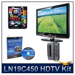 LN19C450 - HDTV + High-performance Hook-up Kit + Power Protection + Calibration