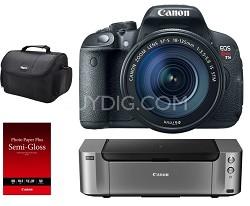 EOS Rebel T5i 18MP Camera  Kit w/ EF-S 18-135mm STM IS Lens + Printer/Paper/Case