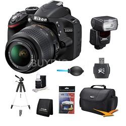 D3200 DX-format Digital SLR Kit w/ 18-55mm and SB-700 AF Speedlight Kit