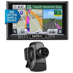 "nuvi 57LMT 5"" Essential Series 2015 GPS System w Maps/Traffic Vent Mount Bundle"