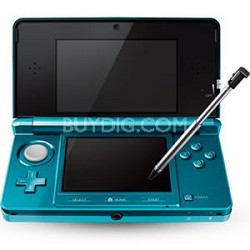 3DS Portable Gaming Console Aqua Blue CTRSBAAA